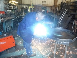 Welding the water feature